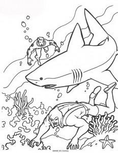 kleurplaat Aquaman (35)