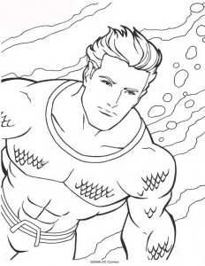 coloring page Aquaman (37)