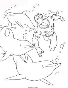 kleurplaat Aquaman (4)