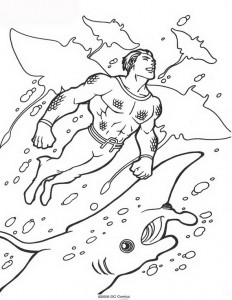 coloring page Aquaman (47)