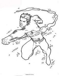 kleurplaat Aquaman (48)