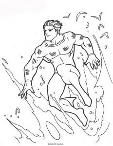 kleurplaat Aquaman (49)