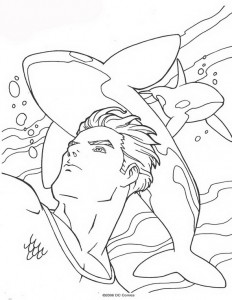 coloring page Aquaman (5)