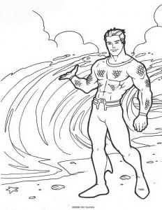 kleurplaat Aquaman (53)