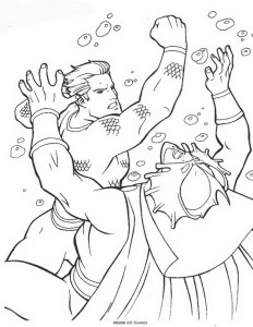 coloring page Aquaman (60)