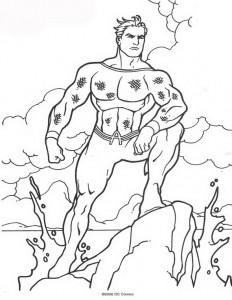 kleurplaat Aquaman (61)