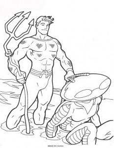 kleurplaat Aquaman (7)