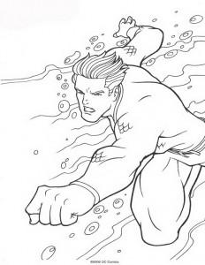 kleurplaat Aquaman (8)