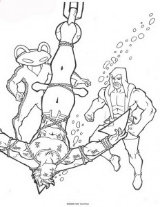 coloring page Aquaman (9)