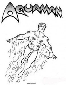 coloring page Aquaman