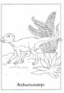 coloring page Archaeoceratops