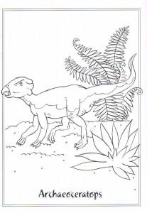 kleurplaat Archaeoceratops