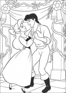 kleurplaat Ariel danst met Eric