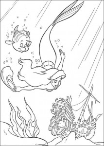 coloring page Ariel and Botje