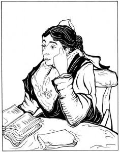 pagina da colorare Arlésienne Madam Ginoux 1888