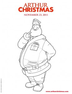 kleurplaat Arthur Christmas (1)