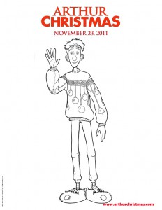 Arthur Christmas (3) coloring page