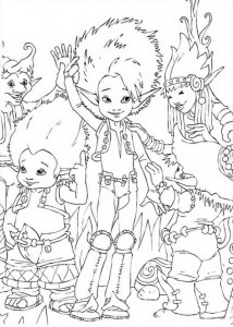 Arthur and BetaMech (1) coloring page