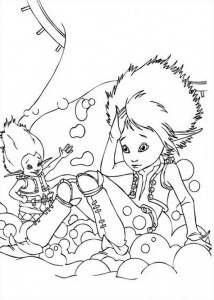Arthur and BetaMech (2) coloring page