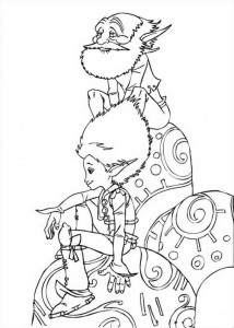 Arthur and Grandpa coloring page