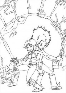 coloring page Arthur and Selenia (1)