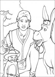 kleurplaat Arthur, Ezel en de gelaarsde kat