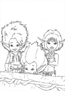 Arthur, Selenia and BetaMech coloring page
