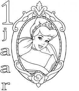 σελίδα Ζωγραφιάς Cinderella 1 έτος