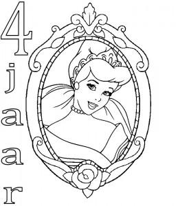 kleurplaat Assepoester 4 jaar