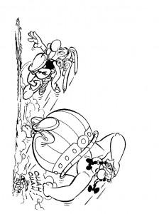 kleurplaat Astrix en Obelix (6)