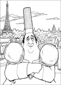 coloring page Auguste Gusteau