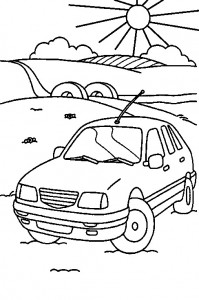 kleurplaat Auto (10)