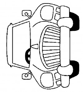 kleurplaat Auto (14)