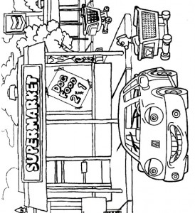 kleurplaat Auto (4)