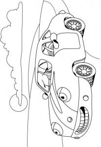kleurplaat Auto (6)