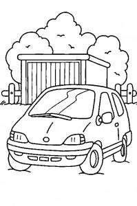 kleurplaat Auto (7)