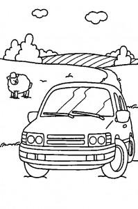 kleurplaat Auto (8)