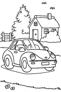 kleurplaat Auto (9)