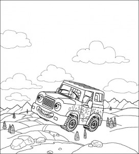 coloring page Auto