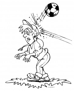 coloring page Auu! Ball to head