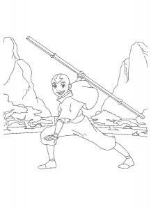kleurplaat Avatar (3)