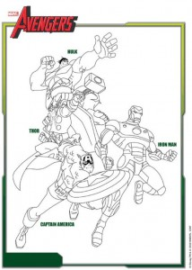coloring page Avengers (1)