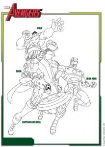 kleurplaat Avengers (1)
