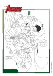 coloring page Avengers (2)