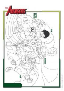 kleurplaat Avengers (2)