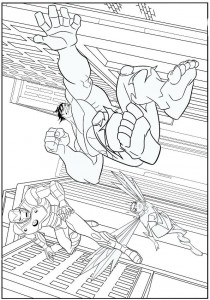 kleurplaat Avengers (4)