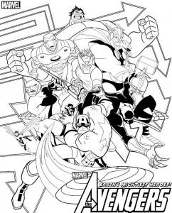 kleurplaat Avengers (6)