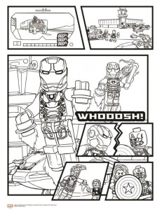 coloring page Avengers Civil War