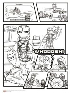 målarbok Avengers Civil War