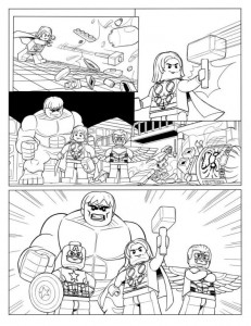målarbok Avengers p10